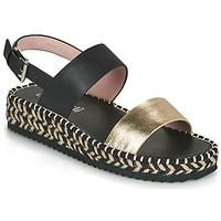 Παπούτσια Γυναίκα Σανδάλια / Πέδιλα Café Noir GRISLI Black / Gold