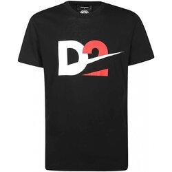 Υφασμάτινα Άνδρας T-shirt με κοντά μανίκια Dsquared S74GD0728 Black