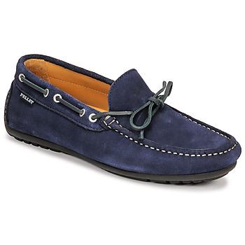 Παπούτσια Άνδρας Μοκασσίνια Pellet Nere Μπλέ