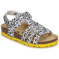 Παπούτσια Κορίτσι Σανδάλια / Πέδιλα Citrouille et Compagnie JANISOL Leopard / Άσπρο / Black