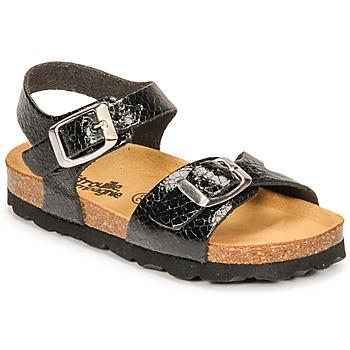 Παπούτσια Κορίτσι Σανδάλια / Πέδιλα Citrouille et Compagnie RELUNE Black / Serpent