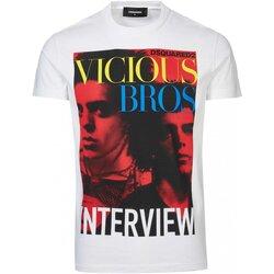 Υφασμάτινα Άνδρας T-shirt με κοντά μανίκια Dsquared S74GD0475 Άσπρο