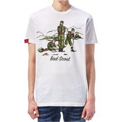 Υφασμάτινα Άνδρας T-shirt με κοντά μανίκια Dsquared S74GD0361 Άσπρο