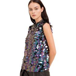 Υφασμάτινα Γυναίκα Μπλούζες Fracomina FR19FP508 Μαύρος