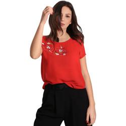 Υφασμάτινα Γυναίκα Μπλούζες Gaudi 811BD45011 το κόκκινο