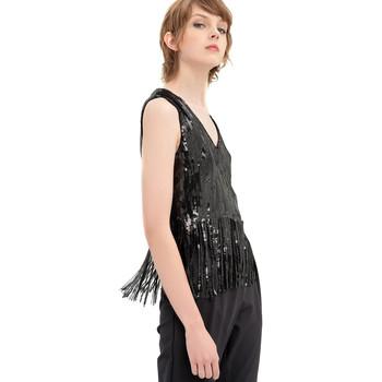 Υφασμάτινα Γυναίκα Μπλούζες Fracomina FR20SP503 Μαύρος