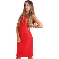 Υφασμάτινα Γυναίκα Κοντά Φορέματα Fracomina FR20SP645 το κόκκινο