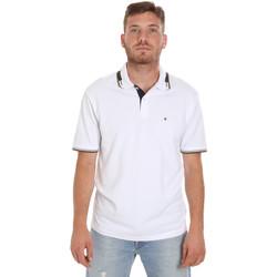 Υφασμάτινα Άνδρας Πόλο με κοντά μανίκια  Les Copains 9U9021 λευκό