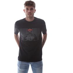 Υφασμάτινα Άνδρας T-shirt με κοντά μανίκια Sprayground 21SFW004 Μαύρος