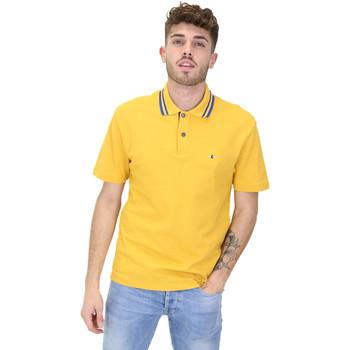 Υφασμάτινα Άνδρας Πόλο με κοντά μανίκια  Les Copains 9U9022 Κίτρινος