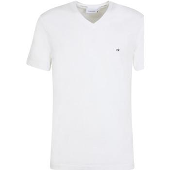 Υφασμάτινα Άνδρας T-shirt με κοντά μανίκια Calvin Klein Jeans K10K103672 λευκό