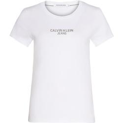 Υφασμάτινα Γυναίκα T-shirt με κοντά μανίκια Calvin Klein Jeans J20J214232 λευκό