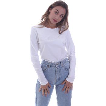 Υφασμάτινα Γυναίκα Μπλουζάκια με μακριά μανίκια Calvin Klein Jeans K20K202386 λευκό