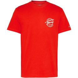 Υφασμάτινα Άνδρας T-shirt με κοντά μανίκια Tommy Jeans DM0DM08350 το κόκκινο
