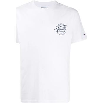 Υφασμάτινα Άνδρας T-shirt με κοντά μανίκια Tommy Jeans DM0DM08350 λευκό