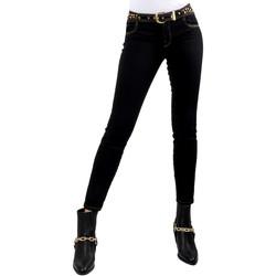 Υφασμάτινα Γυναίκα Skinny Τζιν  Versace A1HVB02HAPV4P899 Μαύρος