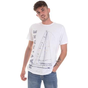 Υφασμάτινα Άνδρας T-shirt με κοντά μανίκια Navigare NV31109 λευκό