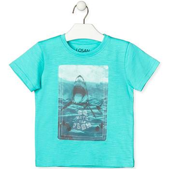 Υφασμάτινα Παιδί T-shirt με κοντά μανίκια Losan 015-1018AL Πράσινος