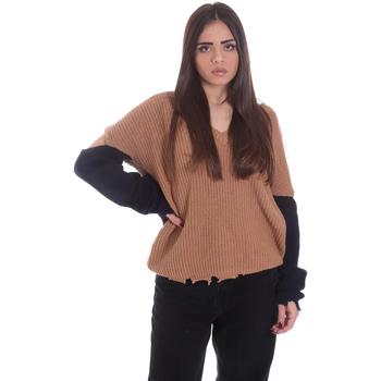 Υφασμάτινα Γυναίκα Πουλόβερ P-Jean 1X109Q Y4ZX Μπεζ