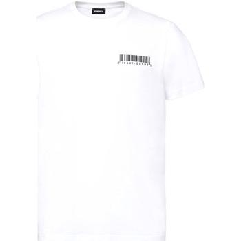 Υφασμάτινα Άνδρας T-shirt με κοντά μανίκια Diesel A00582 0HAYU λευκό