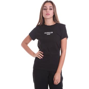 Υφασμάτινα Γυναίκα T-shirt με κοντά μανίκια Calvin Klein Jeans J20J214232 Μαύρος