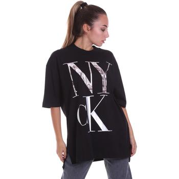 Υφασμάτινα Γυναίκα T-shirt με κοντά μανίκια Calvin Klein Jeans J20J214436 Μαύρος