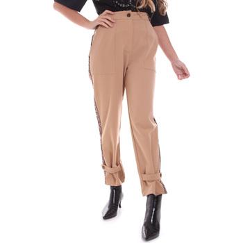 Υφασμάτινα Γυναίκα Παντελόνια Chino/Carrot Gaudi 021FD25004 Μπεζ