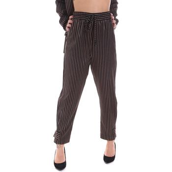 Υφασμάτινα Γυναίκα Παντελόνια Chino/Carrot Gaudi 021FD25017 Μαύρος