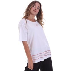 Υφασμάτινα Γυναίκα T-shirt με κοντά μανίκια Ea7 Emporio Armani 6HTT32 TJ52Z λευκό