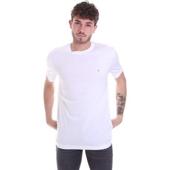 Υφασμάτινα Άνδρας T-shirt με κοντά μανίκια Calvin Klein Jeans K10K106360 λευκό