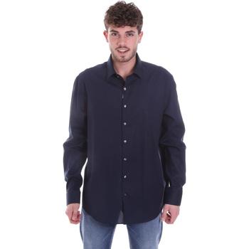 Υφασμάτινα Άνδρας Πουκάμισα με μακριά μανίκια Calvin Klein Jeans K10K106040 Μπλε