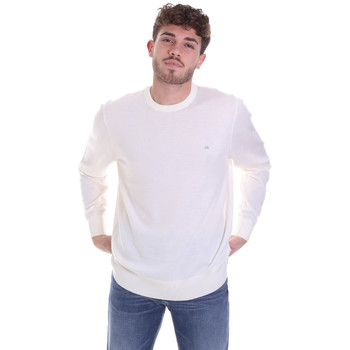 Υφασμάτινα Άνδρας Πουλόβερ Calvin Klein Jeans K10K102727 λευκό