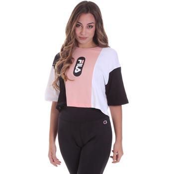 Υφασμάτινα Γυναίκα T-shirt με κοντά μανίκια Fila 687943 Ροζ