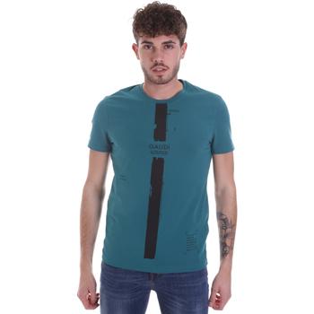 Υφασμάτινα Άνδρας T-shirt με κοντά μανίκια Gaudi 021GU64035 Πράσινος