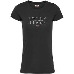 Υφασμάτινα Γυναίκα T-shirt με κοντά μανίκια Tommy Jeans DW0DW08470 Μαύρος