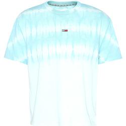 Υφασμάτινα Γυναίκα T-shirt με κοντά μανίκια Tommy Jeans DW0DW08541 Μπλε