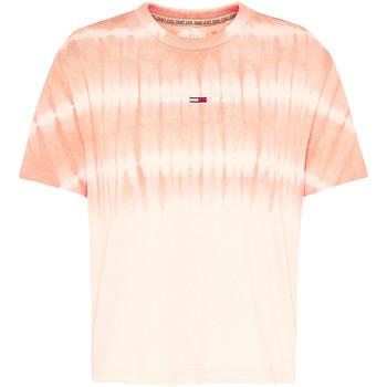 Υφασμάτινα Γυναίκα T-shirt με κοντά μανίκια Tommy Jeans DW0DW08541 Πορτοκάλι
