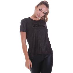 Υφασμάτινα Γυναίκα T-shirt με κοντά μανίκια Freddy F0WALT2 Μαύρος