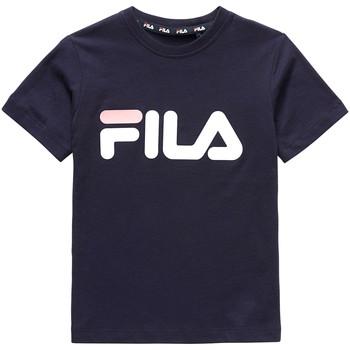 Υφασμάτινα Παιδί T-shirt με κοντά μανίκια Fila 688021 Μπλε