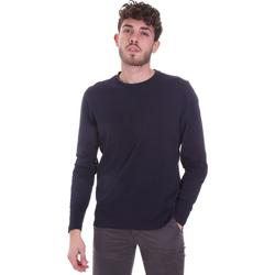 Υφασμάτινα Άνδρας Μπλουζάκια με μακριά μανίκια Sseinse MI1691SS Μπλε