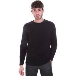 Υφασμάτινα Άνδρας Μπλουζάκια με μακριά μανίκια Sseinse MI1691SS Μαύρος