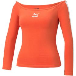 Υφασμάτινα Γυναίκα Μπλουζάκια με μακριά μανίκια Puma 530376 Πορτοκάλι