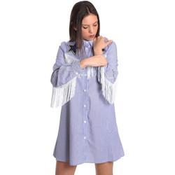Υφασμάτινα Γυναίκα Κοντά Φορέματα Denny Rose 811DD10018 Μπλε