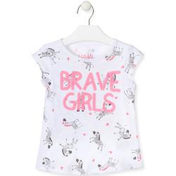 Υφασμάτινα Κορίτσι Αμάνικα / T-shirts χωρίς μανίκια Losan 017-1016AL λευκό
