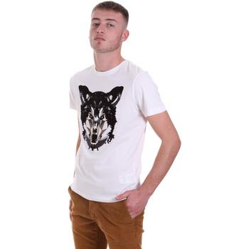 Υφασμάτινα Άνδρας T-shirt με κοντά μανίκια Antony Morato MMKS01878 FA100144 λευκό