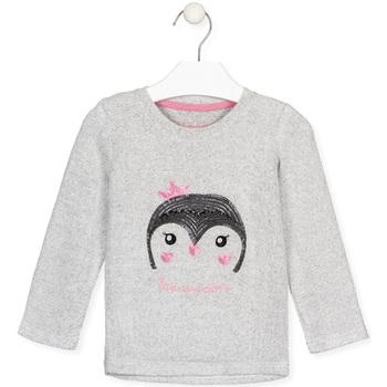 Υφασμάτινα Κορίτσι Μπλουζάκια με μακριά μανίκια Losan 026-1029AL Γκρί