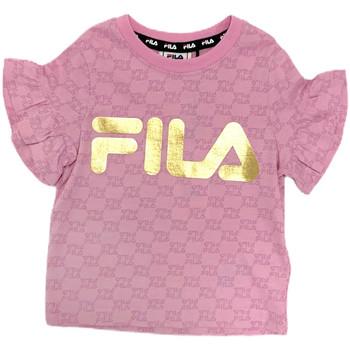 Υφασμάτινα Κορίτσι T-shirt με κοντά μανίκια Fila 688038 Ροζ