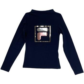 Υφασμάτινα Παιδί Μπλουζάκια με μακριά μανίκια Fila 688102 Μπλε