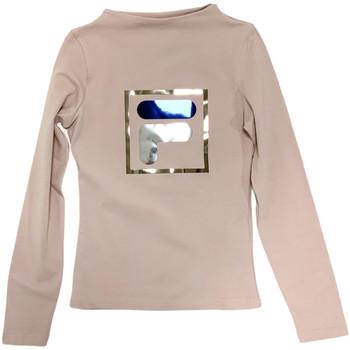 Υφασμάτινα Παιδί Μπλουζάκια με μακριά μανίκια Fila 688102 Μπεζ