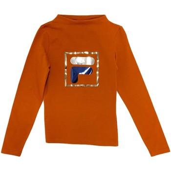 Υφασμάτινα Παιδί Μπλουζάκια με μακριά μανίκια Fila 688102 Πορτοκάλι